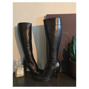 Prada Knee High Leather Boots
